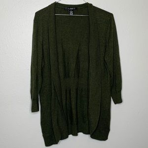 89th & Madison | Green | Open front Cardigan